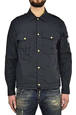 Moncler Jacket Buttons Navy mens - Color: navy - Size: 1/2/3 - Made in Italy