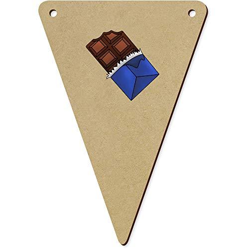 Azeeda 5 x 140mm 'Tafel Schokolade' Wimpel / Banner aus Holz (BN00056244) (Holz-tafel-banner)