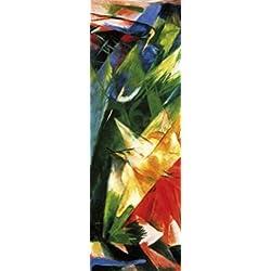 1art1 73901 Franz Marc - Die Vögel, 1914, 1-Teilig Fototapete Poster-Tapete 250 x 79 cm