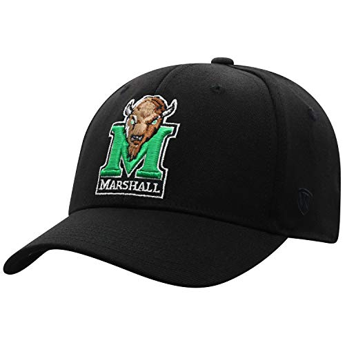 Top of the World NCAA Premium Collection Herren Mütze, Memory-Fit, Schwarz, Herren, Premium Collection One-fit Memory Fit Hat Black Icon, schwarz, Einstellbar Marshall University Alumni