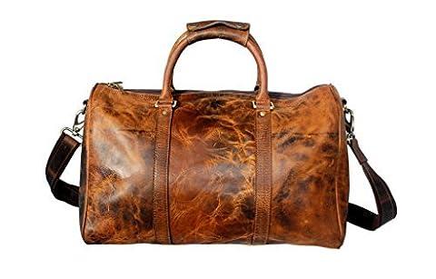 Prämie Qualität Handgemacht Traditionellen Seesack Sporttasche Reisetasche Weekender Duffle Bag Gym bag Mit Vintage und antikem Look Für Reise Ein Geschenk von indischen (Personalisierte Leder Geschenke Für Ihn)