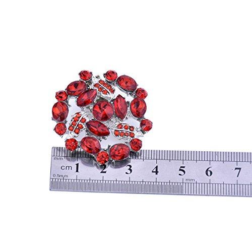 ElegantPark AM Damen Kristall Kleider Handtasche Hute Schuh Clips 2 Stücke Rot