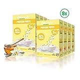 fitmeals Protein Puffs Honig Vanille, Cornflakes mit natürlichem Erbsenprotein ohne Zuckerzusatz (8 x 225 GR)