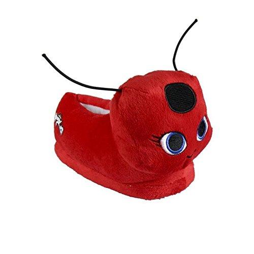 Générique Miraculous Ladybug Chaussons Peluche 3D - Fille - Rouge 26