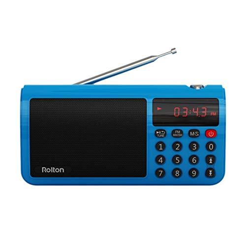 Rolton T50 Portable Haute Sensibilité Bande du Monde FM/MW/SW Stéréo Radio Haut-Parleur Mp3 Lecteur de Musique Carte Mémoire pour PC Ordinateur