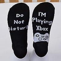 Meifyomng Funny Socks Cotton Shhh.I'm Playing Xbox Letter Socks Funny Sports Socks