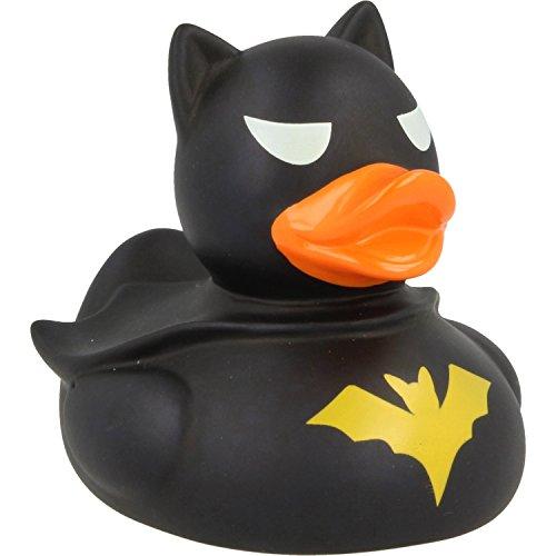 LiLaLu Badeente Gummiente Schwimmente Sammeln Ente Halloween Superheld Krone: Art: Dark Duck- Ente - 6