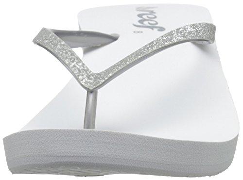 Reef Krystal Star, Sandales  Bout ouvert femme Blanc (White/Silver)
