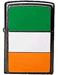 Zippo Ireland Flag Emblem - Kits de superviviencia, color plateado