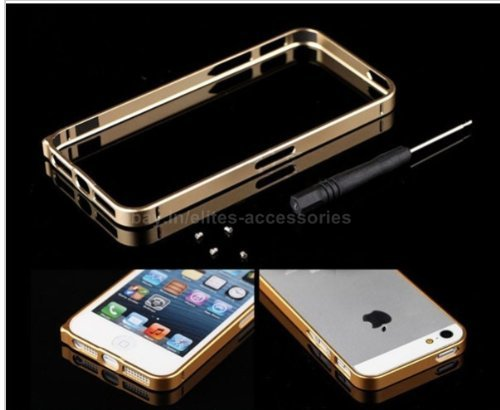 Elite Aluminium Metal Bumper Case Cover For Apple iPhone 5/5S (Gold)
