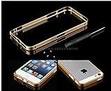Elite Aluminium Metal Bumper Case Cover For Apple iPhone 5/5S (Gold)