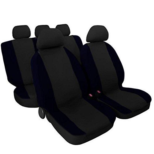 Lupex Shop 17239-01 Schwarz - dunkelblau Baumwolle Sitzbezüge