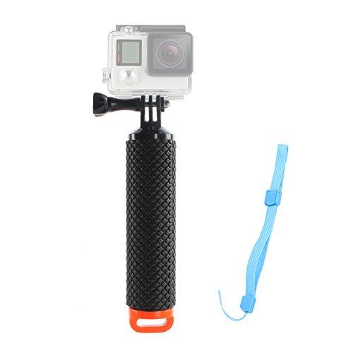 Geila Floating Hand Grip Trépied Bâton Poignée en mousse étanche Float Pole Selfie Stick pour Gopro Hero 5 / Gopro Hero 3+ 4 Session 3 GeekPro 3.0 et ASX Action Pro Caméras Action Caméra Accessoires (Orange)