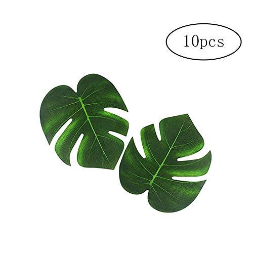 Domire 10 PC Simulation Monstera Premium-Künstliche Palm Leaves Jungle Strand-Thema Dekorationen Wiederverwendbare Gefälschte Tropical Blätter Künstliche Pflanzen für Dekoration
