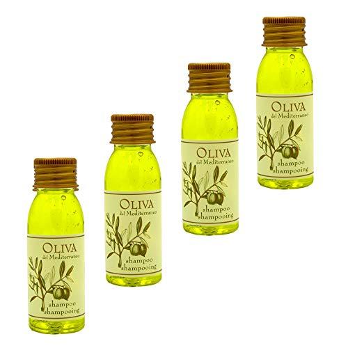 Awek.eu 100 Stück Hotel Shampoo mit Olivenöl Flasche 30ml Oliva Serie -