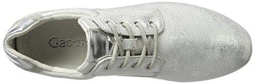 Gabor Shoes Fashion, Scarpe da Ginnastica Basse Donna Bianco (ice/silber 61)