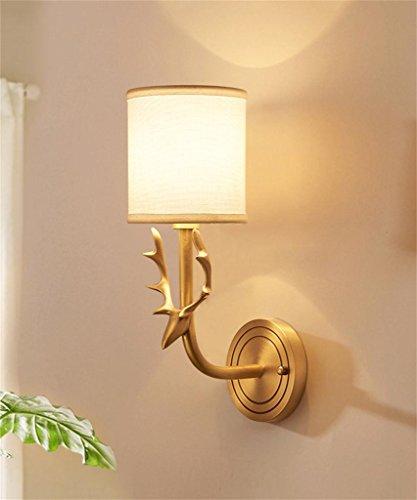 FPFBIDENG FPF Wandleuchten European Full Copper Wandleuchte American Schlafzimmer Nachttisch Wohnzimmer Beleuchtung Moderne Rustikale Wohnzimmer Wandleuchten Möbel Wandleuchte -