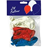 "24 x 10"" Red, White and Blue Latex Balloons"