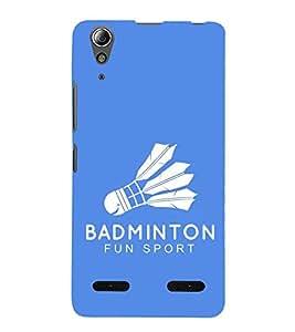 Fiobs Designer Back Case Cover for Lenovo A6000 Plus :: Lenovo A6000+ :: Lenovo A6000 (Badminton Shuttle Cock Fun Sports )
