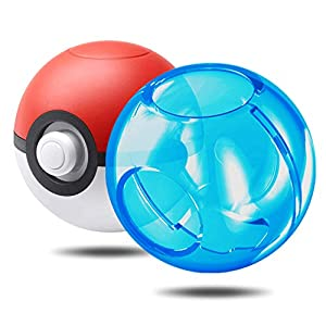 Schutzhülle für Nintendo Switch Poke Ball Plus Controller, transparent, blau