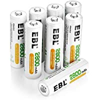 EBL 2800mAh AA de Alta Capacidad Ni-MH 1200 Ciclo de Pilas Recargables para los