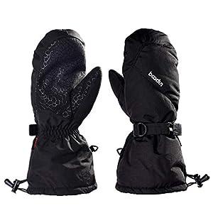 LISM Damen Herren Skihandschuhe Wasserdicht Winddicht Winterhandschuhe Unisex Outdoor-Sporthandschuhe Damen Warm Anti-Rutsch Fäustlinge