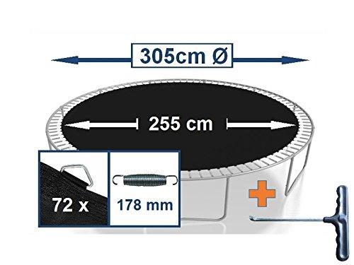 Sprungtuch Sprungmatte Ersatzteile für Trampolin Ø 305 cm 72 Ösen (Federn 17,8 cm)