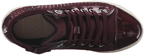 Geox Creamy A, Sneakers Hautes Fille Rot (DK BURGUNDYC7357)