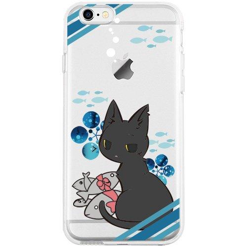 iPhone 6S Hülle, TrendyBox Weiche TPU Ränder mit hartem PC Rückdeckel Schutzhülle Hülle für iPhone 6 6S (Astronaut) Katze und Fisch