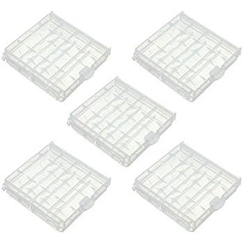 Chytaii.5 pcs AAA/AA Caja de baterías Bateria Box Estuches para Pilas Durable El plastico Caja de Soporte de Caja de Almacenamiento de batería: Amazon.es: Hogar