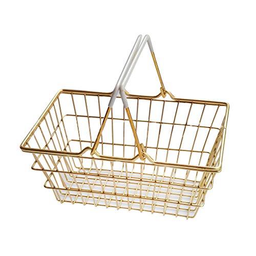 Fornateu Eisen-Draht-Speicher-Korb Haushalt Desktop-Metall-Organisator-Halter Haus Badezimmer Küche Sundries Container -
