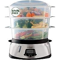 Russell Hobbs Cuiseur Vapeur 10.5L Digital Programmable, Cuiseur Légumes, Riz, Œufs, Compatible Lave-Vaisselle - 23560-56