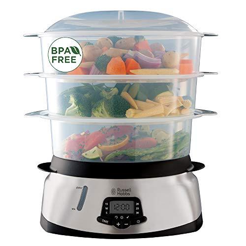 Russell Hobbs 23560-56 Cuiseur Vapeur 10,5L Maxicook, Digital, Programmable, Cuisson Légumes, Riz, Œufs, Compatible Lave-Vaisselle