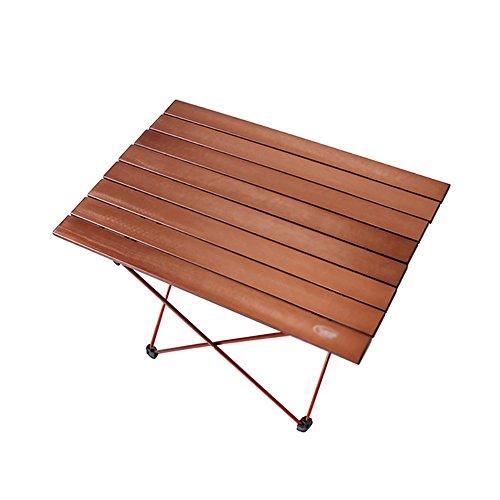 Lina Faltender Picknicktisch im Freien, superleichte tragbare Luftfahrt-Aluminiumlegierung-beiläufiger kampierender Tisch-Kaffee-Gold (größe : 68.5x45.5cm)