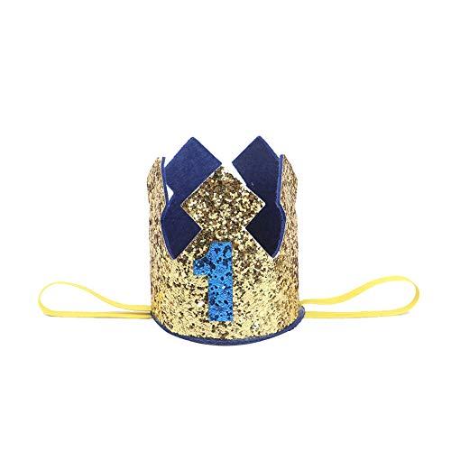 JingYuan Baby-Geburtstags-Crown-Hut Stirnband Kleiner Prinz Prinzessin Kuchen Smash Foto Prop Party Supplies ()