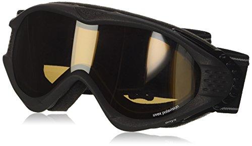 Uvex Skibrille Onyx Polavision Skibrille Google schwarz Black Met Mat 34