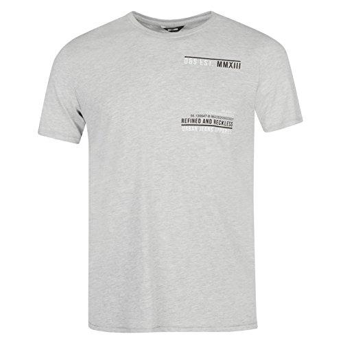 Only and Sons Herren T Shirt Leicht Rundhals Kurzarm Schmale Passform Baumwolle Grau