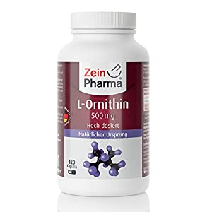 41uSojxLdaL. SS300  - ZeinPharma L-Ornithin 500mg • 120 Capsules (5-weeks-supply) • gluten-free, vegan, kosher & halal • Made in Germany