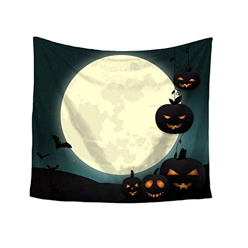 (Qiusa Halloween-Druck-Quadrat-dekorativer Tapisserie-Strand-Wurfs-runder Tuch-Yoga-Matte (Farbe : D))