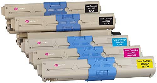 5er Set Premium Toner kompatibel für Oki C310dn C330dn C510dn C511dn C530dn C531dn MC361 MC361dn MC362dn MC561 MC561dn MC562dn | Schwarz 3.500 Seiten & Color je 2.000 Seiten -