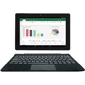 [2 Bonus item] Simbans TangoTab 10 Inch Tablet with Keyboard 2-in-1 Laptop | Android 7 Nougat, 2GB RAM, 32GB Disk | IPS screen, HDMI, 2 + 5 MP Camera, GPS, WiFi, USB, Bluetooth PC Computer
