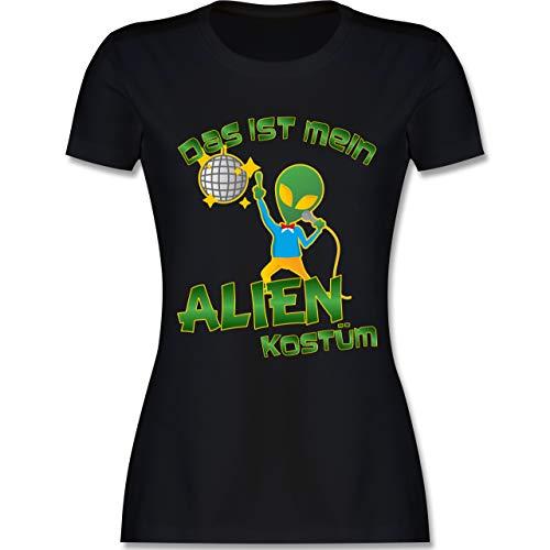 Alien Kostüm Themen - Karneval & Fasching - Das ist Mein Alien Kostüm Disco - XL - Schwarz - L191 - Damen Tshirt und Frauen T-Shirt