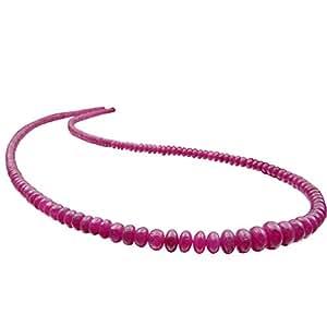 Schmuck-Krone-Collier Ras du cou pour femme avec rubis Rouge, Argent 925