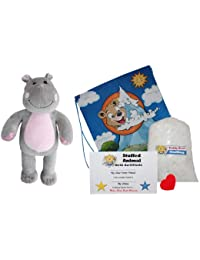 "Make Your Own Stuffed Animal ""Happy The Hippo"" - No Sew - Kit With Cute Backpack!"