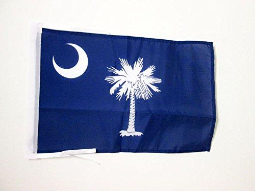 BANDERA de CAROLINA DEL SUR 45x30cm - BANDERINA AMERICANA DE CAROLINA DEL SUR - EE.UU 30 x 45 cm cordeles - AZ FLAG