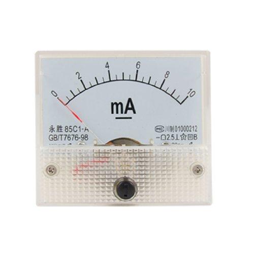 Klasse 2,5Genauigkeit DC 0-10mA Analog Panel Meter Amperemeter 85C1Analog Current Panel Meter -
