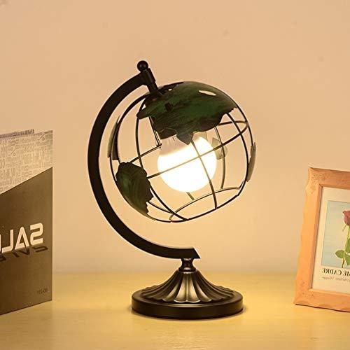 Metallic Iron Globe Green Schreibtischlampe, Edelstahl Arc Und Base/Earth World Tischlampe, Educational Geographic Modern Desktop Dekoration Stehlampe Für Die Schule, Home Office -