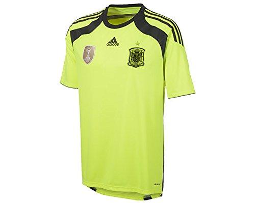 adidas Spanien Torwarttrikot Herren Trikot Away Jersey Spain Neongelb L