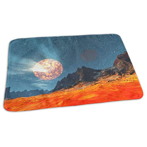 Voxpkrs Planet Creative Art Landscape Drawing Portable Changing Pad,Reusable Unisex Baby Soft Changing Mat with Reinforced Seams