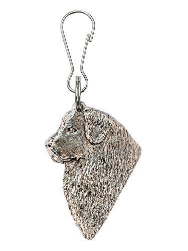 Neufundländer (Kopf) Hergestellt in U.K. Kunstvolle Hunde- Reißverschlußanhänger (Zipper pull) Sammlung (Neufundland Kopf)